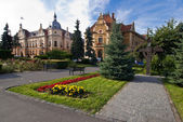 Brasov townhall, neobaroque architecture style — Stock Photo