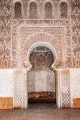 Puerta medersa Ben yussef marrakech, Marruecos — Foto de Stock