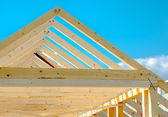Detail of roof frame under construction — Stock Photo