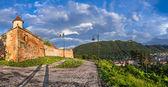 Panoramic view of Brasov (Transylvania, Romania) — Stock fotografie
