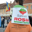 Protests for Rosia Montana — Stock Photo
