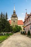 Die evangelische kirche des dorfes keisd, rumänien — Stockfoto