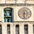 Old clock in Transylvania town,Sighisoara,Romania — Stock Photo