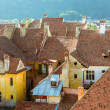Medieval houses in Sighisoara, Romania-Overview — Stock Photo