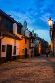 Pequenas casas medievais em golden lane, praha — Foto Stock