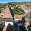 Homorod overview from the vilage Church tower — Stock Photo