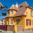 Colorfull Medieval street in Sighisoara, Romania — Stock Photo