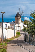 Traditional windmill in Palma de Majorca, Spain. — Stock Photo
