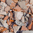 Brick texture from demolation — Foto Stock