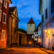 Stock Photo: View of narrow JirskStreet in Prague Castle