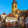 Medieval street in Sibiu, Transylvania, Romania — Stock Photo