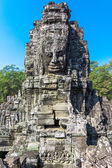 Stone Faces at Bayon Temple (Prasat Bayon) — Stock Photo