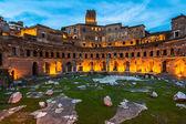 Trajan's Market, in the night — Stock Photo
