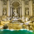 Neptune statue of the Trevi Fountain in Rome Italy — Stock Photo