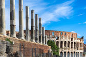 Colosseum,the Flavian Amphitheatre seen from Forum — Stock Photo