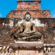 Stock Photo: Sitting Budhin Wat Mahathat, Sukhothai,Thailand.