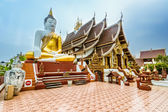 Thai Buddhist Temple in Chiang Mai,Thailand — Stock Photo