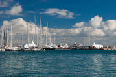 Group of boats on a sunny day — Foto Stock
