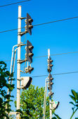 Train Lights at a railway (semafor) — Stock Photo