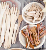 Handmade wooden spoons — Stock Photo