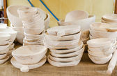 Wooden items for kitchen,plates,bowl,etc — Stock Photo
