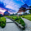 Barsana monastery complex in Maramures — Stock Photo #43566945