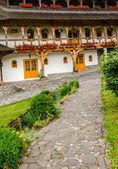 Monastero Barsana complesso in maramures — Foto Stock