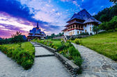Barsana monastery complex in Maramures — Stock Photo