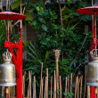 Ancient bronze temple bells, Chiang Mai — Stock Photo