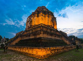 Wat Chedi Luang at sunset — Photo
