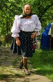 Maramures yaşlı kadın — Stok fotoğraf