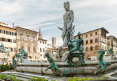 Statue of Neptun in Florence, Italy — Stock Photo