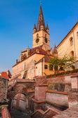 Evanghelical Church in Sibiu — Stock Photo
