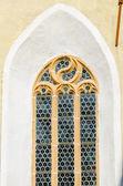 Woodcarved  frame window — Stock Photo