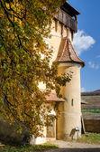 Biertan fortified tower, Transylvania-detail — Stock Photo