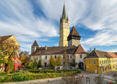 Medieval fortified church of Medias — Stock Photo
