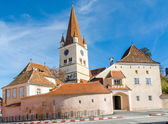 Evangelical Fortified Church in Cisnadie, Romania — Stock Photo