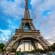 Car in front of Eiffel Tower, Paris, France — Stock Photo