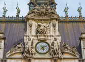 The Hotel de Ville close-up  of the clock tower — Stock Photo