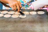 Cooking thai pancakes — Foto Stock