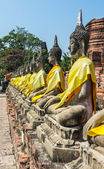 Statue of buddha at Wat Yai Chaimongkol — Stock fotografie