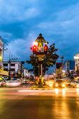The Cavemen Traffic Lights of Krabi Town — Stock Photo