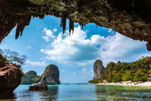 Paradise in Railay beach Thailand — Stock Photo