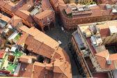 Bologna aerial view, Italy — Stock Photo
