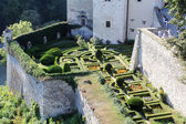 Maze garden at Pieskowa Skala Castle near Krakow, Poland — Stock Photo