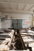 Abandoned industrial hall — Foto Stock