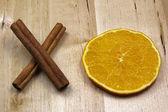 Circle and Cross- cinnamon and orange — Stock Photo