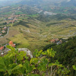 Stock Photo: Beautiful panoramic view from hill of SMarino