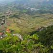 图库照片: Beautiful panoramic view from hill of SMarino
