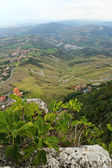Beautiful panoramic view from hill of San Marino — Stock Photo